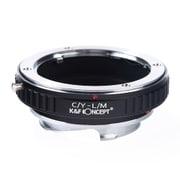 KF-CYM [一眼レフカメラ用 レンズマウントアダプター ブラック ボディ側:ライカM レンズ側:ヤシカ・コンタックス]