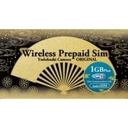 YD-PRI-1G-nano [WIRELESS GATE WiFi+LTE プリペイド1Gプラン 下り最大150Mbps データ通信量1GB ヨドバシカメラオリジナル nanoSIM]