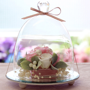 ガラスドームエレガンス ピンク&ホワイト [プリザーブドフラワーギフト]