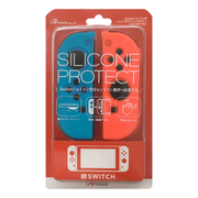 ANS-SW014RB [Nintendo Switch Joy-Con用 シリコンプロテクト レッド&ブルー]