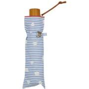 折傘 ボーダードット ライトブルー [超はっ水折傘 55cm]