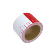 貼付ロッド 合成紙製 75mm×25m 赤白20cm間隔