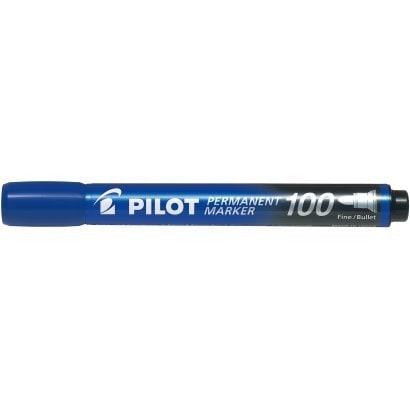 MPM-10F-L [パーマネントマーカー100 油性マーカー 中字 丸芯 ブルー]