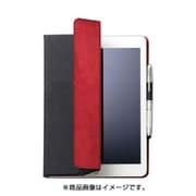 TB-A179WDTBU [iPad 9.7インチ 2018年/2017年モデル フラップカバー イタリア製高級ソフトレザー 2アングル 薄型 ブルー]