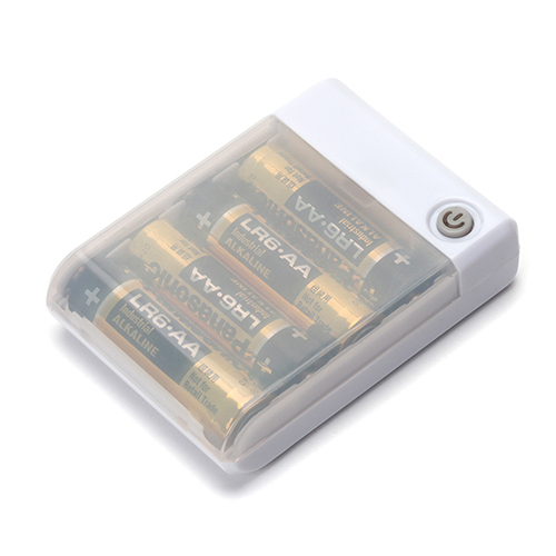 PG-JUK1U2WH [USBポート搭載 乾電池交換式充電器 出力1A 単三4本使用 ホワイト]