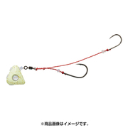 紅牙遊動テンヤ+SS 10 チャート夜光/ゴールドラメ