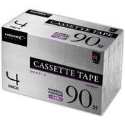 HDAT90N4P [カセットテープ 90分(片面45分) 4本パック]