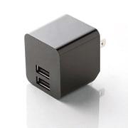MPA-ACUEN000NBK [スマートフォン タブレット用AC充電器 2.4A出力 USB2ポート 自動検知機能付 ブラック]