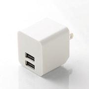MPA-ACUEN000NWH [スマートフォン タブレット用AC充電器 2.4A出力 USB2ポート 自動検知機能付 ホワイト]