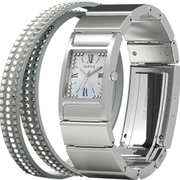 WN-WT12S [wena wrist(ウェナ リスト) Three Hands Square Silver Crystal Edition]