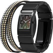 WN-WT12B [wena wrist(ウェナ リスト) Three Hands Square Premium Black Crystal Edition]