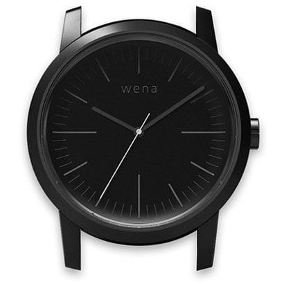 WN-WT01B-H [wena wrist(ウェナ リスト)用ヘッド Three Hands Premium Black Head]