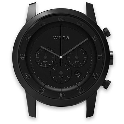 WN-WC01B-H [wena wrist(ウェナ リスト)用ヘッド Chronograph Premium Black Head]