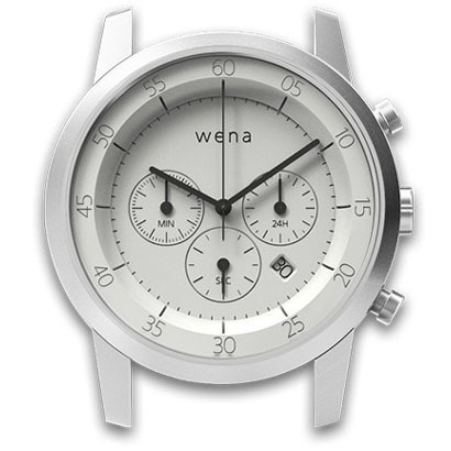 WN-WC01W-H [wena wrist(ウェナ リスト)用ヘッド Chronograph White Head]