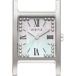 WN-WT12S-H [wena wrist(ウェナ リスト)用ヘッド Three Hands Square Silver Crystal Edition]