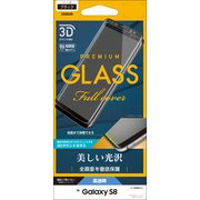 3S830GS8B [Galaxy S8 3Dガラスパネル ブラック]