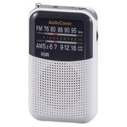 RAD-P125N-W [AudioComm AM/FMポケットラジオ ワイドFM対応 ホワイト]