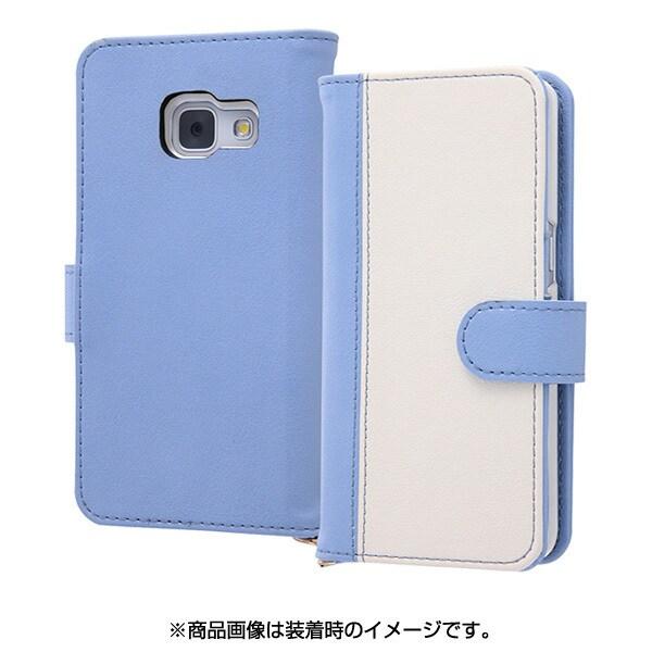 RT-GAJ4LBC10 AW [Galaxy Feel SC-04J 手帳型ケース ノーブル ブルー/ホワイト]