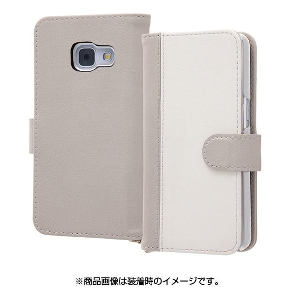 RT-GAJ4LBC10 GRW [Galaxy Feel SC-04J 手帳型ケース ノーブル グレー/ホワイト]