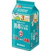 スコッティ 消毒ウェットタオル ウェットガード ボックス 40枚 つめかえ用 3コパック [指定医薬部外品]