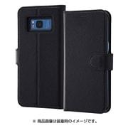 RT-GS8ELC1/BB [Galaxy S8 手帳型ケース シンプル マグネット ブラック]