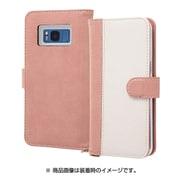 RT-GS8LBC10/PW [Galaxy S8 手帳型ケース ノーブル ピンク/ホワイト]