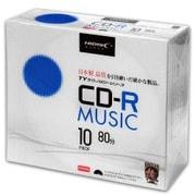 TYCR80YMP10SC [TYシリーズ CD-R 音楽用 48倍速 ワイドプリンタブル 5mmSlimケース10P]