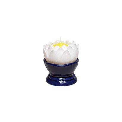 蓮の花 大 ホワイト 燭台付