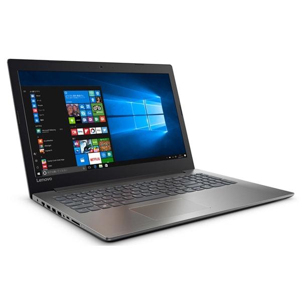 80XL00MNJP [ideapad 320/Windows 10 Home 64bit/Core i7-7500U/メモリ 4GB/HDD 1TB/DVD スーパーマルチ ドライブ/15.6型 HD/Microsoft Office Home & Business Premium プラス Office 365 サービス/オニキスブラック]