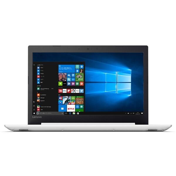 80XL00MPJP [ideapad 320/Windows 10 Home 64bit/Core i7-7500U/メモリ 4GB/HDD 1TB/DVD スーパーマルチ ドライブ/15.6型 HD/Microsoft Office Home & Business Premium プラス Office 365 サービス/ブリザードホワイト]