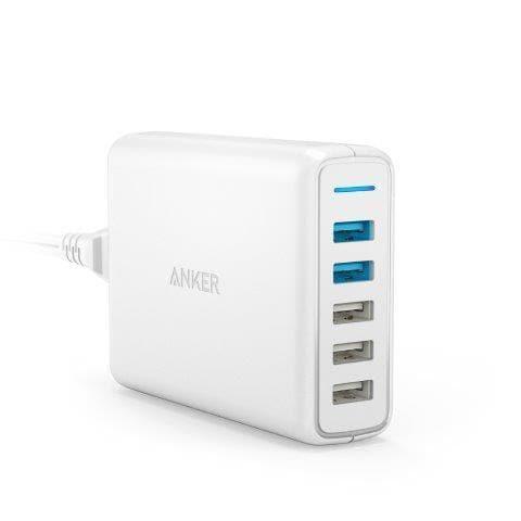 A2054521 [USB急速充電器 Anker PowerPort Speed 5 (QC3.0 2ポート搭載 63W 5ポート) ホワイト]