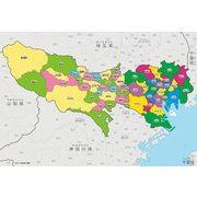 L74-159 [ジグソーパズル 学べるパズル 東京都の地図をおぼえよう 150ラージピース]