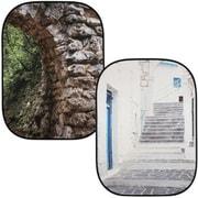 LL LB5741 [折たたみ式柄背景 1.5m×2.1m 石のアーチ/ギリシャ]