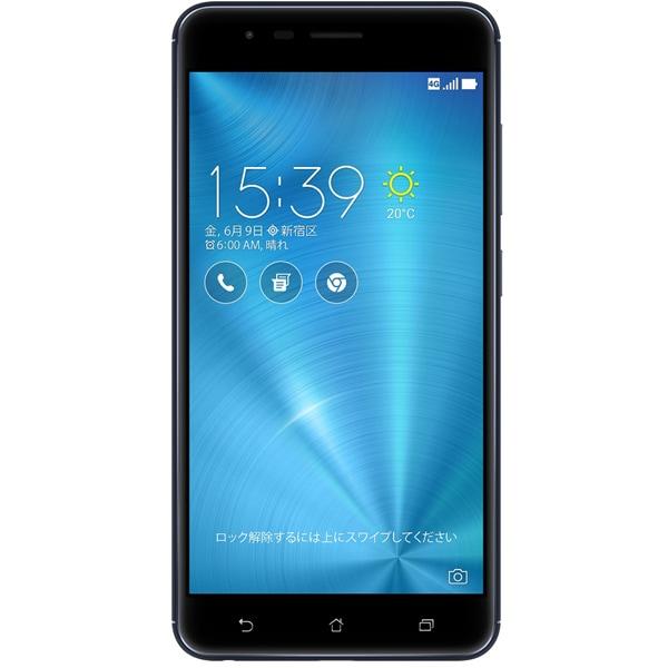 ZE553KL-BK64S4 [ZenFone Zoom S SIMフリースマートフォン/5.5型ワイド液晶/Android6.0.1搭載/QualcommSnapdragon 625(Octa-core CPU)2.0GHz/RAM 4GB/ROM 64GB/802.11bgn/Bluetooth 4.2対応/LTE/指紋センサー/ネイビーブラック]