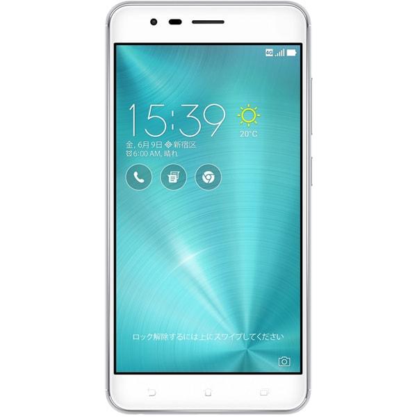 ZE553KL-SL64S4 [ZenFone Zoom S SIMフリースマートフォン/5.5型ワイド液晶/Android6.0.1搭載/QualcommSnapdragon 625(Octa-core CPU)2.0GHz/RAM 4GB/ROM 64GB/802.11bgn/Bluetooth 4.2対応/LTE/指紋センサー/シルバー]