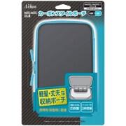 New2DSLL/New3DSLL/3DSLL用 カーボンスタイルポーチ ブラック×ブルー