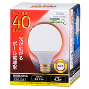 LDG4L-G [AH92 LED電球G形 E26 40形 電球色]