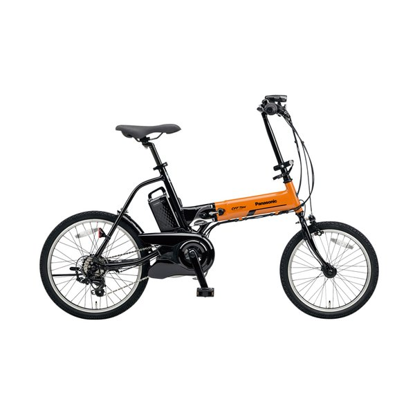 BE-ELW072K [電動アシスト自転車 オフタイム 前18型/後20型 8.0Ah 外装7段変速 オレンジ×ブラック 2017年モデル]