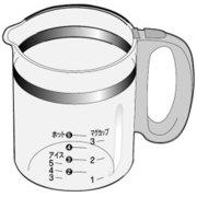ACA10-1361KU [コーヒーメーカー用完成ガラス容器(バスケットふた・バスケットなし)]