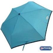 無地パイピング折傘 ブルー [親骨:55cm]