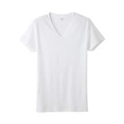 YV0015N [YG PURE COTTON VネックTシャツ Lサイズ ホワイト]