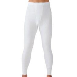 SV61022 [長ズボン下 やわらか肌着 綿100% 抗菌防臭加工 前あき 2枚組 ホワイト Lサイズ]