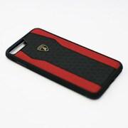 LB-TPUPCIP7P-HU/D8-RD [Lamborghini iPhone 7 Plus 本革ケース]