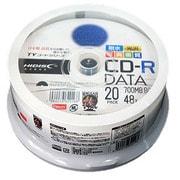 TYCR80YPW20SP [TYシリーズ CD-R データ用 48倍速 700MB 写真画質 光沢 ホワイトワイドプリンタブル ウォーターシールド スピンドルケース 20枚]