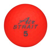 エアストレートマットカラーボール ASBA-7759 レッド [ゴルフボール 6球入り]