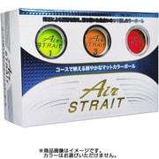 エアストレートマットカラーボール ASBA-7759 アソート(イエロー・オレンジ・レッド) [ゴルフボール 6球入り]