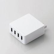 MPA-AC4U001WH [スマートフォン/タブレット用USB充電器 4ポート4.0A ホワイト]