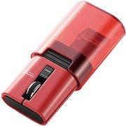 M-CC2BRSRD [IRマウス キャップクリップ 静音ボタン リチウムイオン電池 Bluetooth 3ボタン レッド]