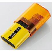 M-CC2BRSYL [IRマウス キャップクリップ 静音ボタン リチウムイオン電池 Bluetooth 3ボタン イエロー]