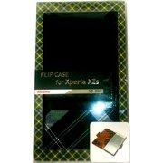 チェックレザーフリップケース Xperia XZ・Xperia XZs GR